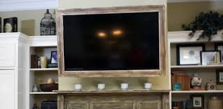 Custom picture frame mounted on TV set.