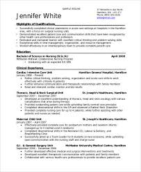Sample Employed Student Nurse Resume