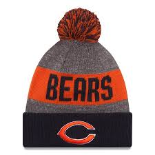 Heather Knit 2016 Sideline C Youth Era Hat Official Logo Chicago Bears Sport Gray New