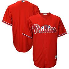 Men's Philadelphia Phillies Majestic Fashion Scarlet Big & Tall Cool Base  Replica Team Jersey