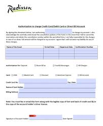 cc auth form free radisson hotel credit card authorization form pdf