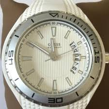 amazing deals on designer mens watches uk delivery guess mens white rubber strap watch w95143g3
