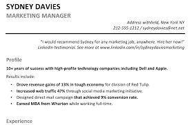Resume Summary Samples For Marketing Therpgmovie