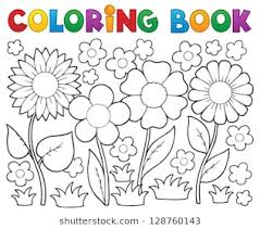 coloring book flower.  Coloring Coloring Book With Flower Theme 2  Vector Illustration Throughout Book Flower G