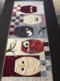 Best 25+ Quilted table runners ideas on Pinterest | Christmas ... & Lappekjeller'n Design - This owl table runner is so cute. Adamdwight.com