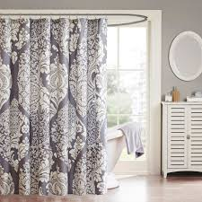 the madison park marcella shower curtain mi a classic design with a contemporary pattern to give you a unique home decor this updated leaf design is