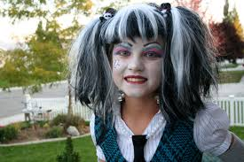 frankie stein monster high costume makeup design