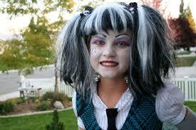 frankie stein monster high halloween costume makeup design