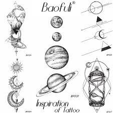 3134 руб 5 скидка25 дизайн вселенная временный боди арт тату космические планеты