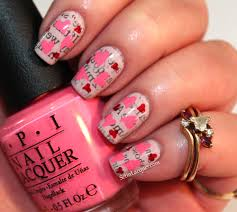 Love Letter nail art with OPI - Set in Lacquer