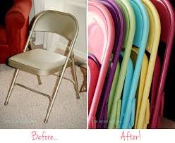 furniture spray paintHow to make over your folding chairs with spray paint  Chickabug