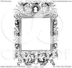 vintage black frame. Clipart Of A Vintage Black And White Medieval Page Frame Royalty