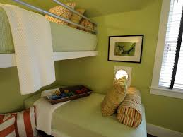 Minimalist Green Kids Bedroom With Nautical Style Reading Light (Image 20  of 27)