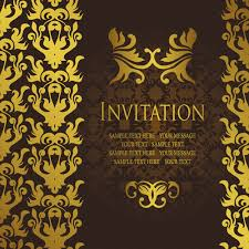 gold luxury invitation card template