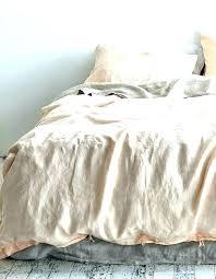 alifornia white linen duvet cover california king