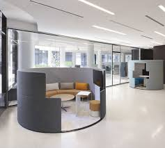 creative office furniture. unique small office furniture pods with curved bench and tv set also round table creative i