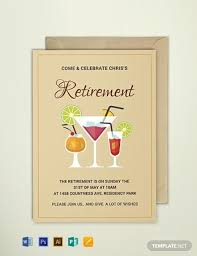Retirement Invitations Free Awesome Retirement Party Invitation Templates Printable