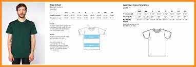 American Apparel Measurement Chart 4 5 American Apparel Sizing Chart Memo Example