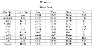 Wicked Clothes Size Chart Size Charts Be Wicked