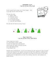 friendship recipe template. holiday recipe template drageinfo