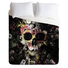 Skull Bedroom Accessories Ali Gulec Garden Skull Duvet Cover Deny Designs Home Accessories