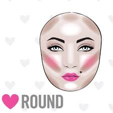 the struggle to contour a round face is real