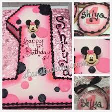 Baby Girl First Birthday Cake Minnie Mouse Kidsbirthdaycakesnearmeml