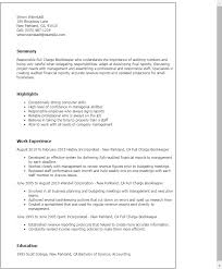 professional full charge bookkeeper templates to showcase your bookkeeper resume examples