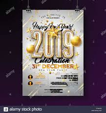 new year s template 2019 new year party celebration poster template illustration