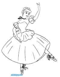 Ballet Coloring Pages For Kids With Cinderella Coloring Pages New