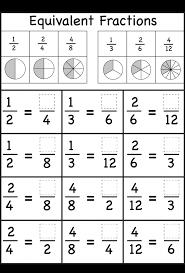 Kids : Equivalent Fractions Worksheet Worksheets Free Fraction For ...