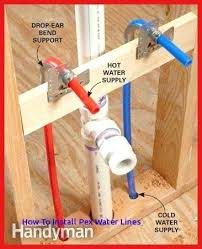 pex supply lines. Interesting Pex Pex Water Supply Lines Piping Everything You Need To Know Picture Drop Ear  Bend Support For   To Pex Supply Lines