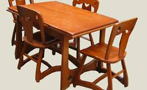 uhuru furniture collectibles 1940 s rock maple dining set sold