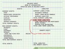 How To Create Balance Sheet Expert Advice On How To Make A Balance Sheet For Accounting