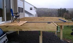 building a freestanding deck how to build deck