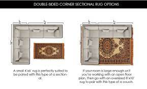 what size area rug under sectional sofa