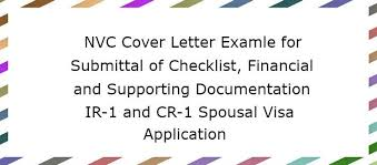 Nvc Cover Letter For Financial Supporting Documentation Lovevisalife