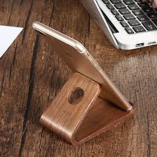 universal genuine wooden phone holder stand station dock for iphone 8 7 6 plus x 5