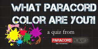 Paracord Planet Color Chart The Paracord Blog Quiz What Paracord Color Are You