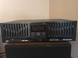 kenwood equalizer retro circa 1980 s kenwood multi band graphic equalizer