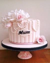 Fondant Mothers Day Cake Birthday Cake For Mom Mothers Day Fondant
