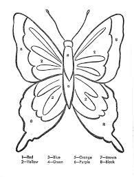 Colora Coi Numeri La Farfalla Gioco Per Bambini Da Stampare E
