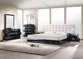 ✅ Milan Modern Leatherette Platform Bedroom Set, Black Lacquer by ...