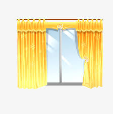 Yellow cartoon curtain, Cartoon, Yellow Free PNG and PSD