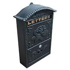 locking wall mounted mailbox vintage
