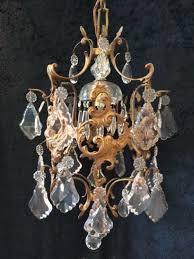 small italian brass antique chandelier