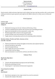 High School Resumes For College Gorgeous College Resumes For High School Seniors Foodcityme