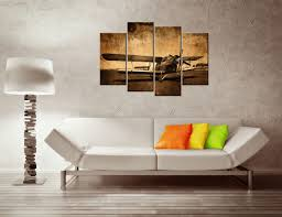 canvas prints vintage aircraft art old plane picture wall decor paintings retro military aviation airplane fighter poster in painting calligraphy from
