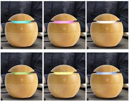 mini wooden aromatherapy humidifier aroma diffuser essential oil diffuser air purifier 2