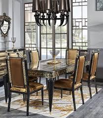 Casa Padrino Luxury Baroque Dining Set Gold Black 1